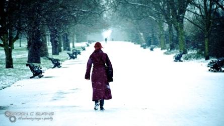 Snow in London 1, 2013 © Gordon C Burns
