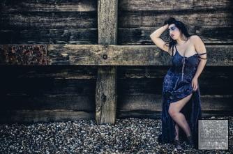 seaside fashion portrait x